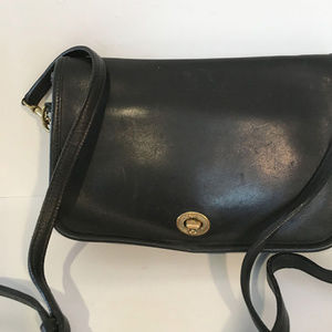 Coach penny pocket cross body leather bag #9755